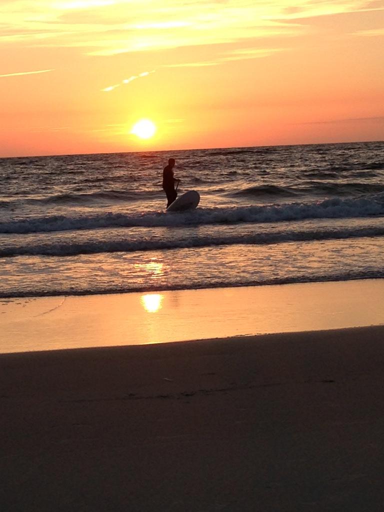 Sylt-SUP-Stand Up Paddling-Sonnenuntergang-Abendstimmung-Westerland