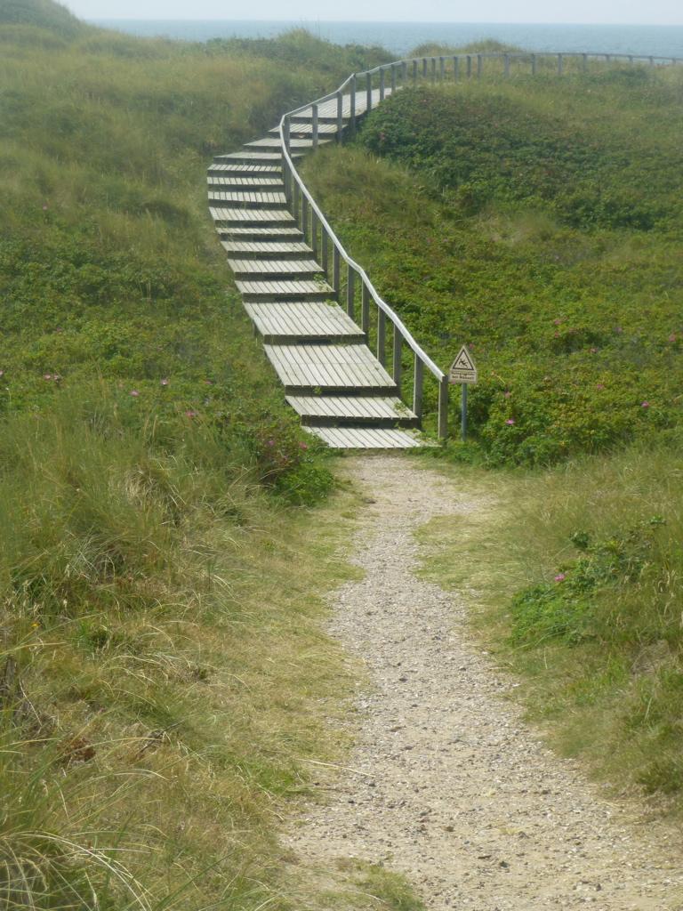 Sylt-Dünen-Strand-Meer-Treppe-Weg